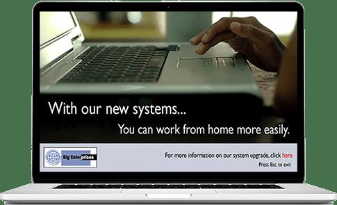 HR Communication example screensaver