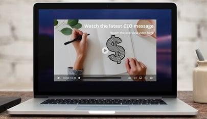 video alert on laptop