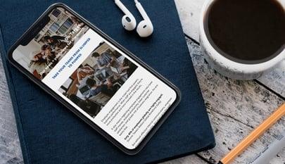 newsletter on mobile phone