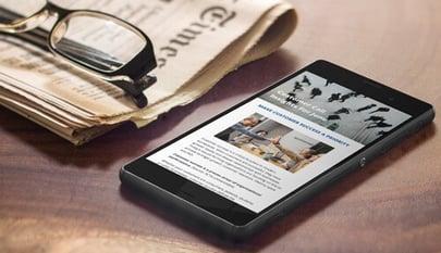 newsletter on mobile
