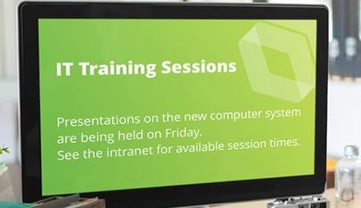 it training screensaver