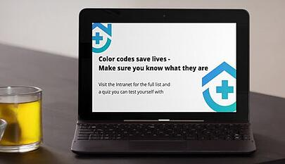 color codes screensaver on laptop