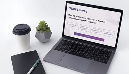 Staff survey on internal comms