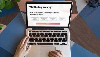 wellbeing survey on laptop