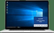 desktop alert message example
