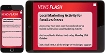 employee alerts on mobile devices examples