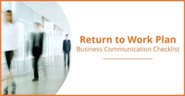 Return to work comms plan