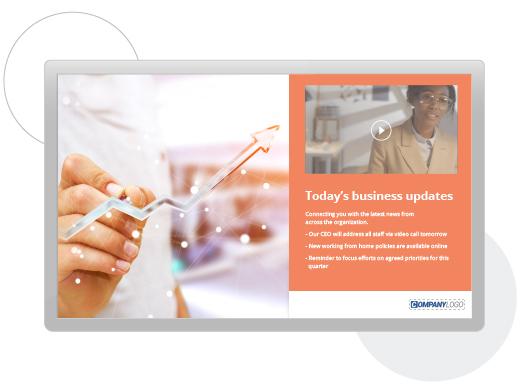 leadership business updates screensaver