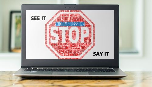 micro aggressions screensaver employee communication