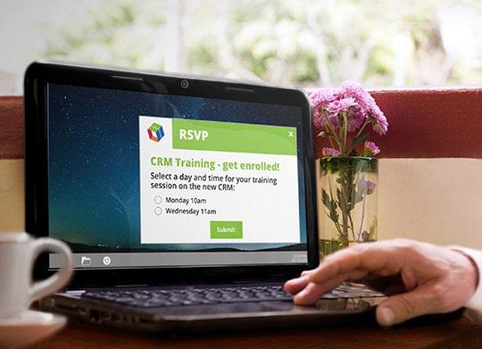 Register for CRM training