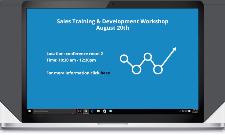 sales training workshop screensaver reminder example