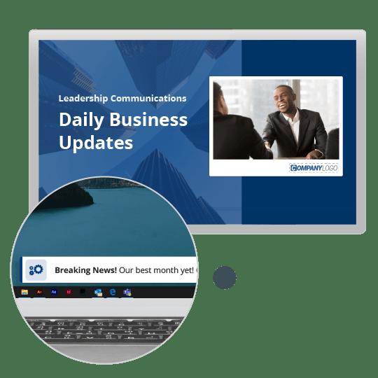 screensaver and ticker business updates