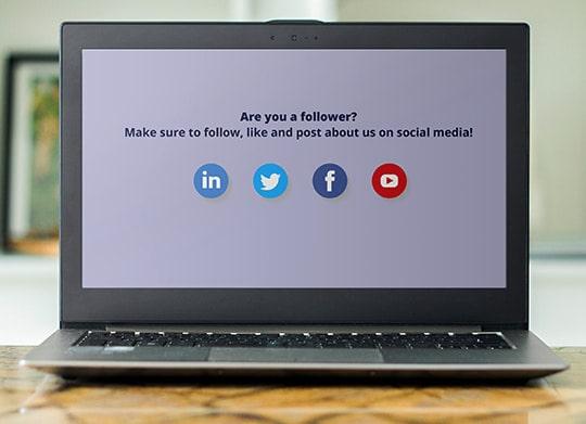 internal marketing social media screensaver