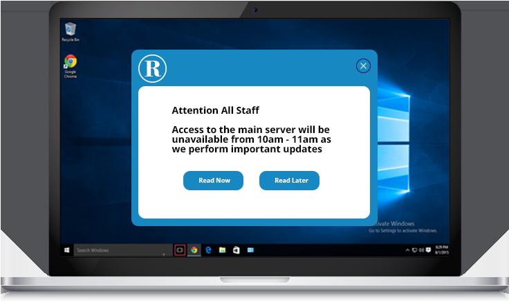 server update alert example