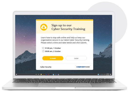 sign up cybersecurity best practices training