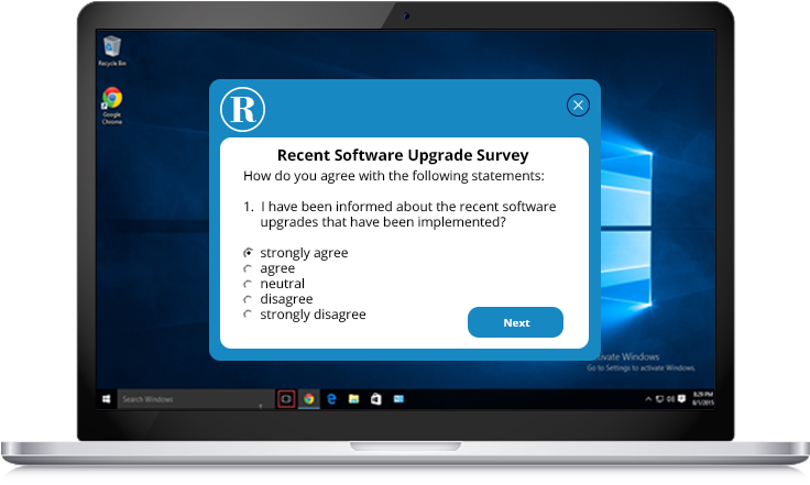 software upgrades survey example