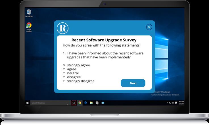 software upgrades survey example