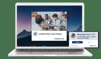leadership communication video update