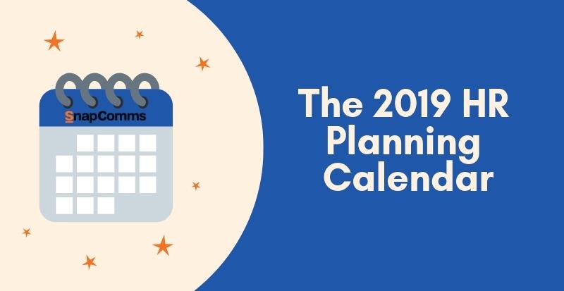 the 2019 hr planning calendar
