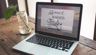 internal marketing video alert on laptop
