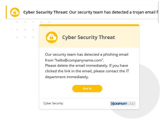 cyber security alert and ticker