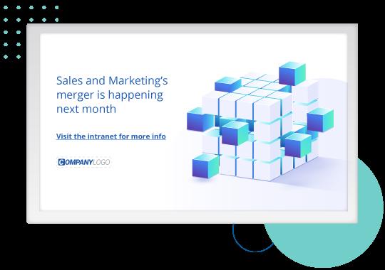 Sales and marketing screensaver signage