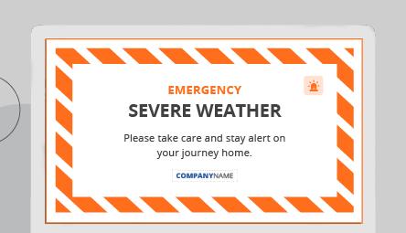 Full screen emergency panic alert message