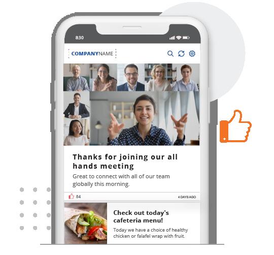 SnapComms Employee App feed