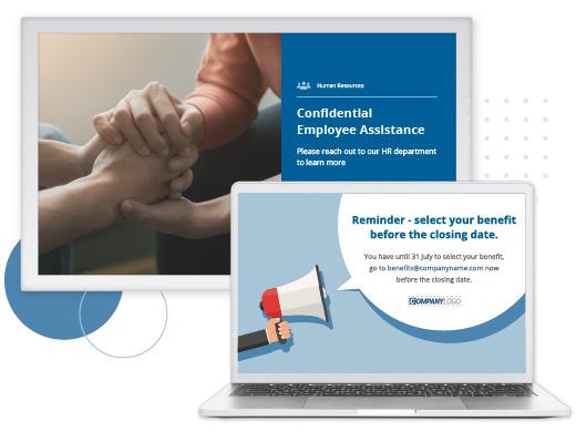 Employee-benefits-screensavers