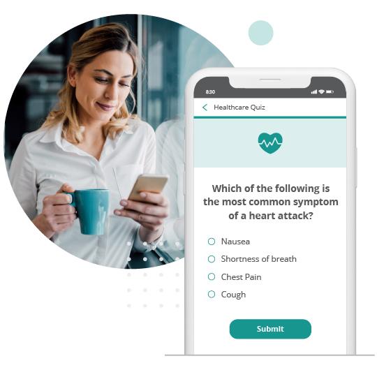 Healthcare quiz on mobile