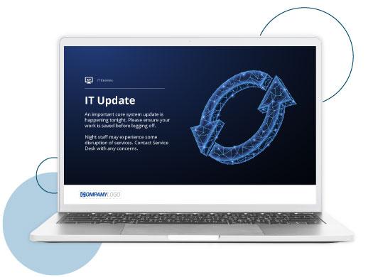 IT update screensaver
