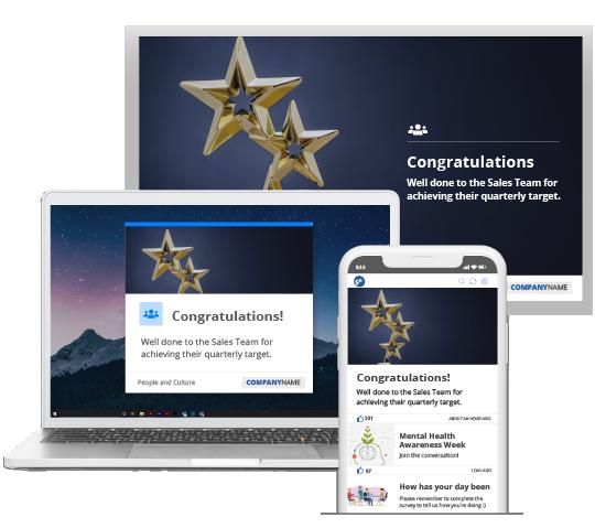 SnapComms achievement alerts across multiple devices