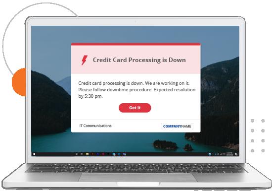 credit card processing alert