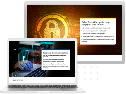 Cyber Security screensaver examples