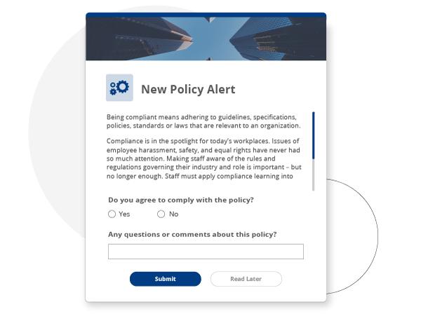 Compliance alert notification software