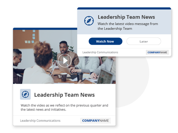 leadership notification messages to employees