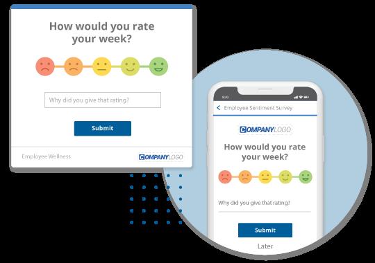 Employee engagement survey alert