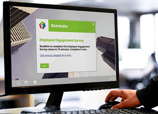 Employee survey alert reminder