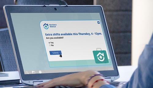 registration alert notification on laptop