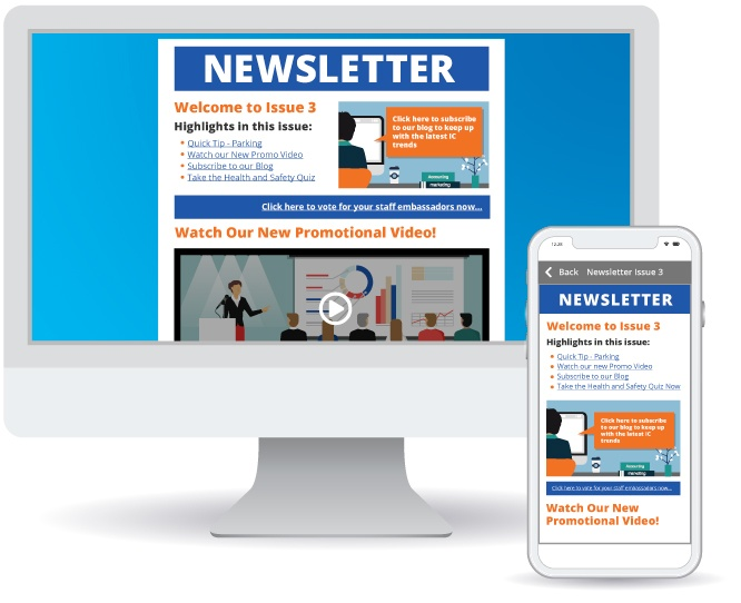 Internal Newsletter showing company news