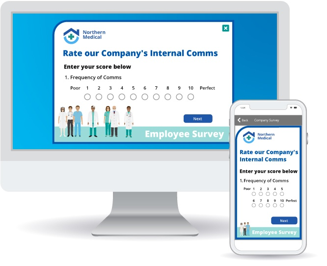 Employee Survey showing rating options