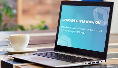 upgrade offer sales screensaver