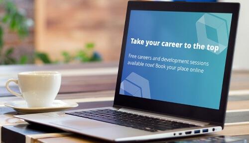 career screensaver on laptop