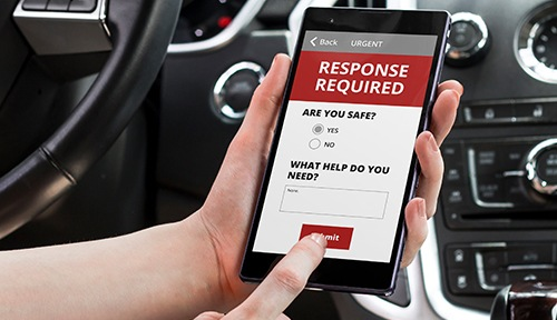 Safety survey on mobile