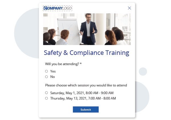 Safety and compliance training rsvp alert
