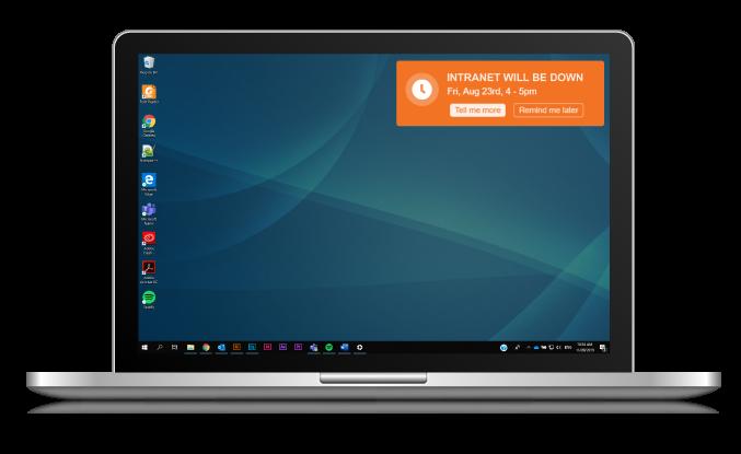 Desktop IT outage alert