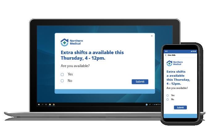 registration alert on laptop and mobile