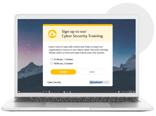 cyber security training signup survey