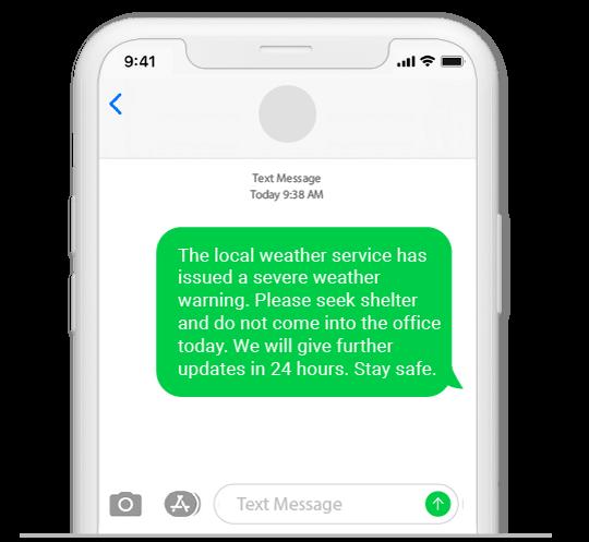 sms weather alert